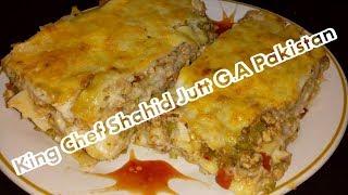 Lasagna King Chef Shahid Jutt G.A Pakistan