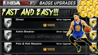 NBA 2K17 HOW TO GET DIMER FAST AND EASY! + MORE BADGES!