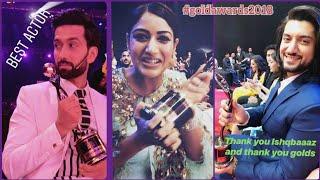 Ishqbaaz Goldawards 2018 || Nakuul , Surbhi, Kunal winning Awards || Ishqbaaz latest Updates