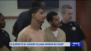 Watch: 12 suspects in `Junior` killing appear in court