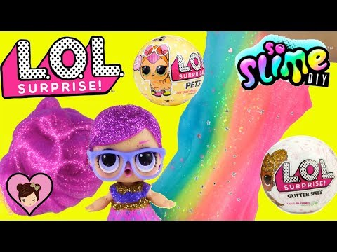 Xxx Mp4 LOL Surprise Pets Glitter Series Dolls DIY Slime Factory Toy 3gp Sex