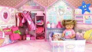 NUEVA CASITA DORMITORIO para mi muñeca NENUCO ANI con muchos accesorios