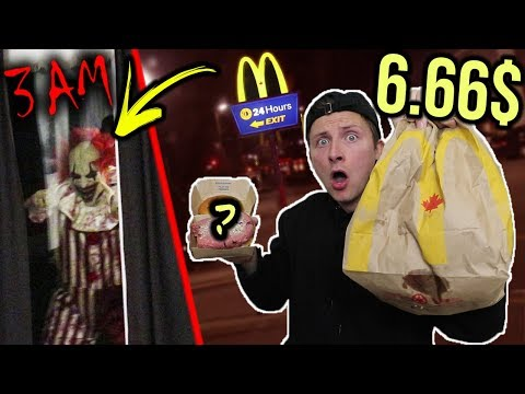 SCARY DONT SPEND 6.66 AT MCDONALDS AT 3 AM SOMETHING IS WRONG WITH MY BURGER