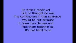 Conjunctions - Katie Perry Fireworks parody