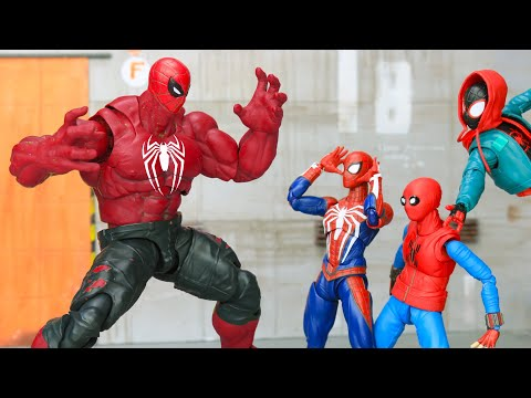 SpiderMan Top 10 Fights & Web Swinging in Spider verse Figure Stopmotion
