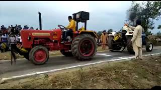 Mahindra 575 Di sarpanch Vs New Holland 3630 Tractor Pulling Demo..