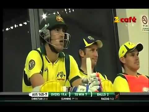 Abdul Razzaq last over in 2nd T20 against Australia Dubai
