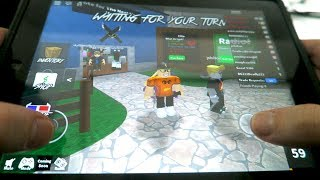 PLAYING ROBLOX ON MY IPAD