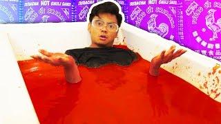 SRIRACHA BATH CHALLENGE!
