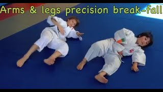 SIDE BREAK-FALL 9 skill drills,   Yoko Ukemi, for judo coaches