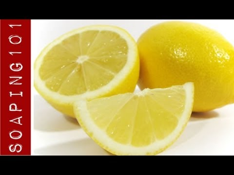 Making Cold Process Citrus Soap from whole lemons