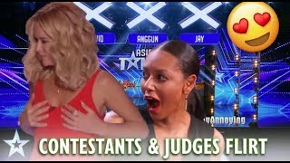 WHEN CONTESTANTS FLIRT WITH THE JUDGES! GOT TALENT