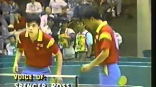 1988 Olympics - Men's Doubles Table Tennis Final