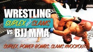 Wrestling vs BJJ ✓ KO BOMBS, SUPLEX, SLAMS in MMA