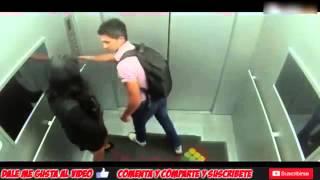 Videos de Risa 2014   Ascensor con chica Sexy   Bromas Pesadas   Videos Graciosos sustos y terror