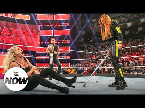 Xxx Mp4 Suspended Becky Lynch Attacks Charlotte Flair And Ronda Rousey With Crutches WWE Now 3gp Sex