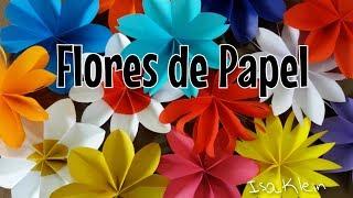 Decoração de festas: flores de papel
