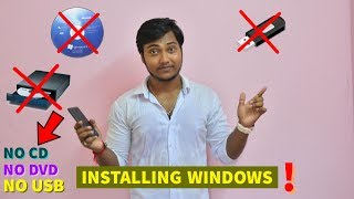 How To Install Windows 7 Without Cd Or Usb in hindi