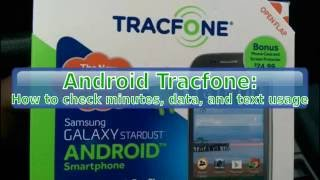 Android TracFone: How to check remaining minutes, data, and texts