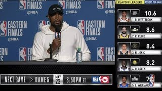 Serge Ibaka Press Conference   Eastern Conference Finals Game 4