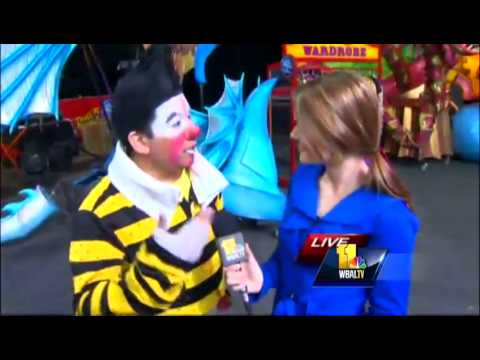 Ava gets pie in the face at circus