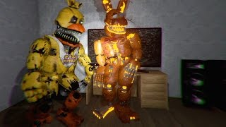 FUNNY NIGHTMARE ANIMATRONICS!! Five Nights at Freddy's 4 3D