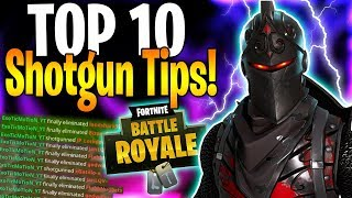 TOP 10 SHOTGUN TIPS IN FORTNITE | HOW TO WIN MORE SHOTGUN FIGHTS!