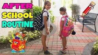 AFTER SCHOOL ROUTINE - Our Afternoon Family Routine - TwoSistersToyStyle