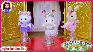 Calico Critters Sylvanian Families Ballet Theater Ballerina Friends Review Silly Play - Kids Toys