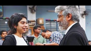 Sridevi daughter Khushi Kapoor met Ajith on Ner Konda Paarvai Shooting Spot | Hot Tamil Cinema News