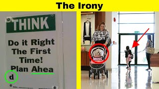 Hilarious Examples Of Irony