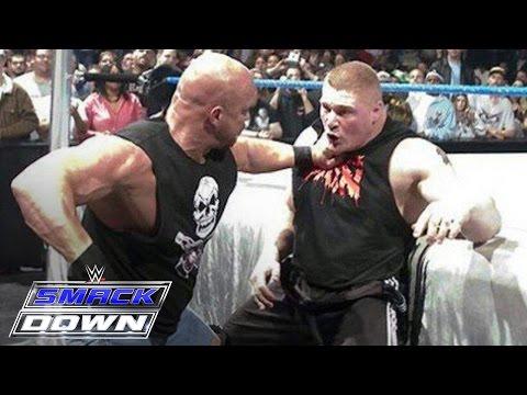 Stone Cold Steve Austin confronts Brock Lesnar days before WrestleMania