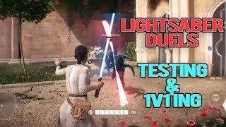 STAR WARS BATTLEFRONT 2: LIGHTSABER DUELS - HOW DO THEY WORK? (Testing & 1v1