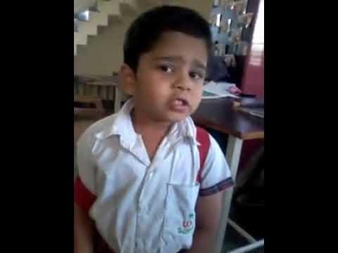 Cute marathi boy talking with his teacher in hindi. so funny....