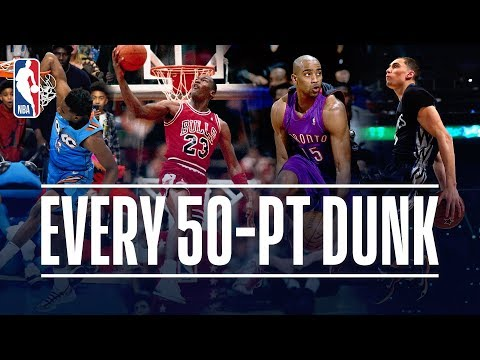 Every 50 Point Dunk In NBA Dunk Contest History 1984 2019