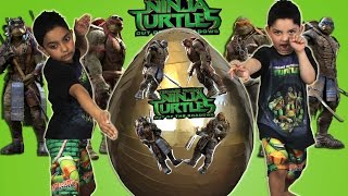 Ninja Turtles Out Of The Shadows 2016 Giant Toys Surprise Egg
