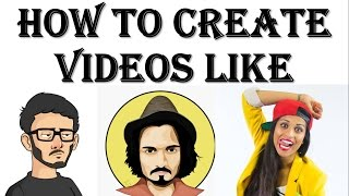 {HINDI} How to create edit or make videos like bb ki vines, harsh beniwal, carry minati, superwoman✔
