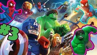 SPIDERMAN Cartoon Hulk and Iron Man + Captain America PART #3 - LEGO Marvel Superheroes Universe in