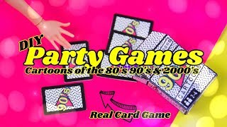 DIY - How to Make: Doll Card Party Game   Cartoons from the 80's 90's & 2000's