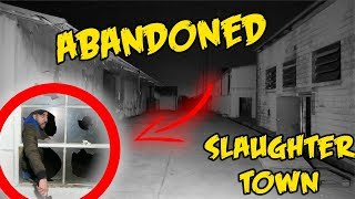 (LOCKED IN??!!) HAUNTED ABANDONED SLAUGHTER HOUSE with Ali H