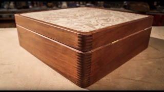 Ipe Wood & Leather Box