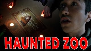 Playing the OUIJA board at an Abandoned HAUNTED Zoo...