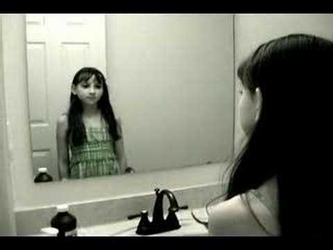 Creepy Grudge Ghost Girl in the Mirror