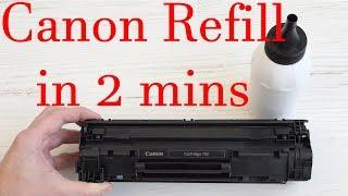 How to refill in 2 minutes Canon 737, Canon 137, Canon 725, Canon 728, Canon 925 Toner Cartridges