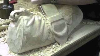 Wood carved vanity bag