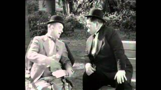 Laurel and Hardy: Why didn't you tell me you had 2 legs