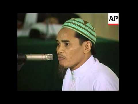 Bali suspect Amrozi appears at Abu Bakar Bashir trial