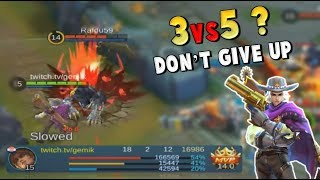 HARD CARRY 3vs5 ! CLINT NEW MVP BUILD ! 54% DAMAGE - Mobile Legends
