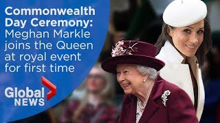 Queen, Meghan Markle attend Commonwealth Day Ceremony (FULL)