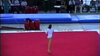 Carla Bigatto (salto) e Camila Comin (solo) - Brasileiro Juvenil 1995